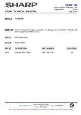 Buy Sharp VCMH68HM-021 Service Schematics by download #159120