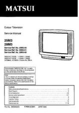 Buy Sanyo 25M3-00-01 SM-Only Manual by download #172635