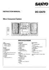 Buy Sanyo DC-DA1400M Operating Guide by download #169158