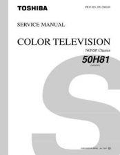 Buy TOSHIBA 50H81 Service Schematics by download #160018