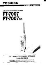 Buy Toshiba FT7807 Manual by download #172088
