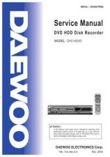 Buy Daewoo DHD-4000D (E) Service Manual by download #154657