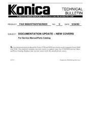 Buy Konica 03 DOCUMENTATION UPDATE N Service Schematics by download #135834