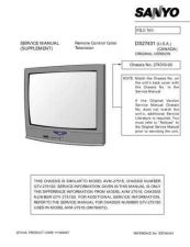 Buy Sanyo DS27425(SM780101-08,07,02,01) Manual by download #174048