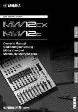 Buy Yamaha MW12CX_EN_OM_D0 Operating Guide by download Mauritron #203955
