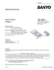 Buy Sanyo Service Manual For VA-50LAN Manual by download #176056