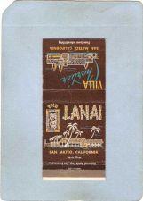Buy CA San Mateo Matchcover Tiki The Lanai Villa Chartier~100