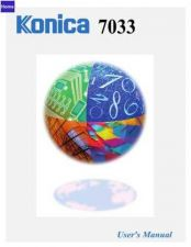 Buy Konica 7033URG Service Schematics by download #135522