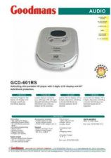 Buy GOODMANS GCD-601RS by download #125448