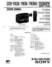 Buy SONY CCD-TR350 Service Manual by download #166382