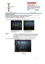 Buy TOSHIBA TAOSC-CTV-200138 SERVICE BULLETIN by download #132191
