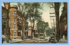 Buy CT New Haven York St Tree Lined Street Scene w/Trolley Tracks And Trolley ~604