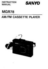 Buy Sanyo MGR600 Operating Guide by download #169432