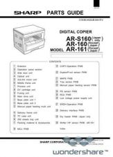 Buy Sharp 111 AR-160 PARTS Manual.pdf_page_1 by download #177666