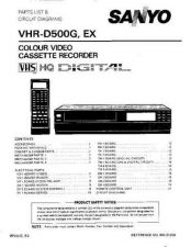 Buy MODEL VHR-D500 Service Information by download #124998