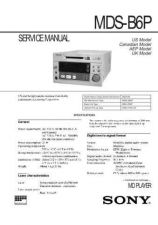 Buy SONY MDS-B5 SERVICE MANUAL by download #128824