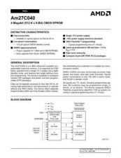 Buy INTEGRATED CIRCUIT DATA AM27C040J Manual by download Mauritron #186444