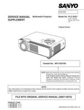 Buy Sanyo PLC-XU07N(OM5110078) Manual by download #174980