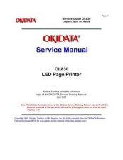 Buy OKIDATA OL 830 SERVICE MANUAL by download #148619