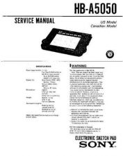 Buy SONY HB-A5050 Service Manual by download #166925