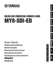 Buy Yamaha MY8-AEB EN DE FR ES JA OM B0 Operating Guide by download Mauritron #2049