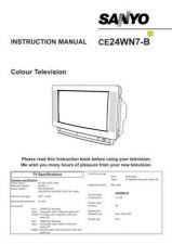 Buy Sanyo CE24WN7-B VER1 Manual by download #173004
