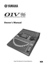 Buy Yamaha 01V96E1 Operating Guide by download Mauritron #204315