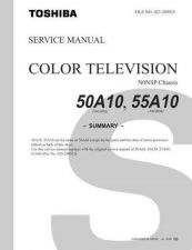 Buy TOSHIBA 50A10 Service Schematics by download #160006