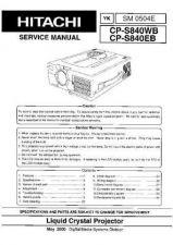 Buy HITACHI SM 0504E Service Data by download #151210