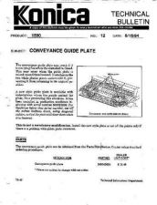 Buy Konica 12 CONVEYANCE GUIDE PLATE Service Schematics by download #135962