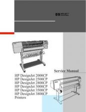 Buy HP DESIGNJET 2000CP, 2500CP, 2800CP, 3000CP, 3500CP, 3800CP SERVICE MANUAL by do