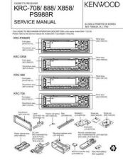 Buy Kenwood KRC708 888 X858 PS988R Service Manual by download Mauritron #192411