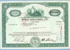 Buy DE na Stock Certificate Company: Rimco Industries, Inc. ~64