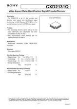 Buy MODEL CXD2131 Service Information by download #124061