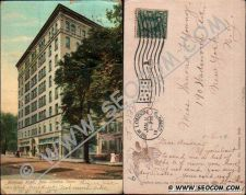 Buy CT New London Postcard Mohican Hotel Street Scene w/Horse & Wagon Undivide~2125