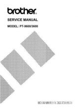Buy BROTHER PT-9200PC SERVICE MANUAL Service Manual by download #146346