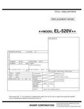 Buy Sharp 297 EL520V Manual by download #178168