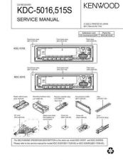 Buy KENWOOD KDC-5016 515S Technical Info by download #148150