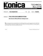 Buy Konica 02 FAX 9750 DOCUMENTATION Service Schematics by download #135800