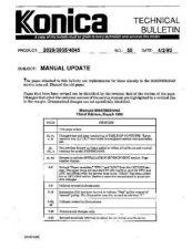 Buy Konica 55 MANUAL UPDATE Service Schematics by download #136218