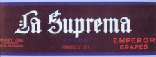 Buy CA Exeter Fruit Crate Label La Suprema Brand Emperor Grapes Rocky Hill Inc~10
