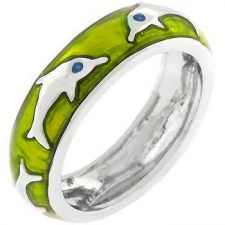 Buy Green Apple Dolphin Ring (size: 09)