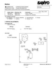 Buy Sanyo Service Manual For VMC-8619P-01 by download #176257