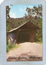 Buy AL Oneonta Covered Bridge Postcard Horton Bridge World Guide Number 01-05-~7
