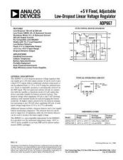 Buy INTEGRATED CIRCUIT DATA ADP667J Manual by download Mauritron #186436