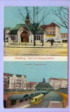 Buy GER Hamburg Hoch & Untergrundbahn Top Half View Small Stone Building w/Tow~134