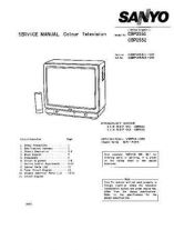 Buy SANYO CBP2552 COLOUR TV SERVICE MANUAL CDC-1409 by download #157407
