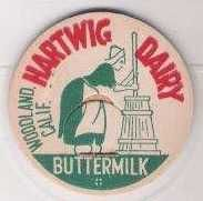 Buy CA Woodland Milk Bottle Cap Name/Subject: Hartwig Dairy Buttermilk~116