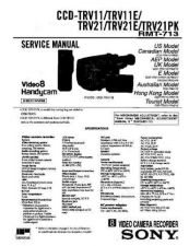 Buy SONY CCD-TRV19 Service Manual by download #166510