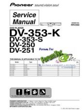 Buy PIONEER DV-353-K Service Manual by download Mauritron #193594